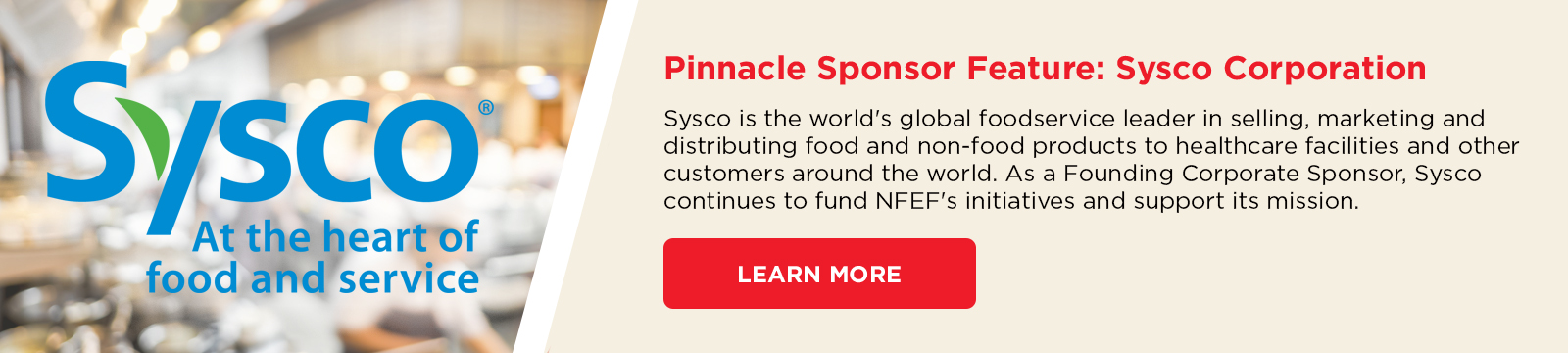 Pinnacle Sponsor - Sysco Corporation