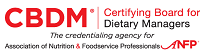 Certifying Board for Dietary Managers (CBDM) Logo